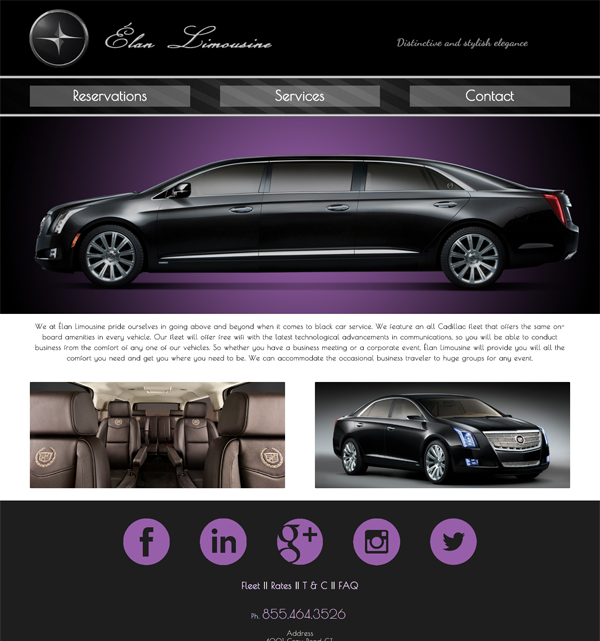 Elan Limousine - A site we designed
